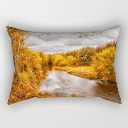 Autumn Along The River Rectangular Pillow