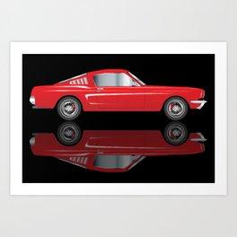 Very Fast Red Car Art Print