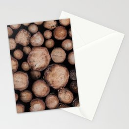 Wood Tree Ring Pattern Stationery Cards