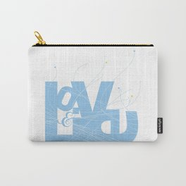 Love & Live (lines1) Carry-All Pouch