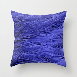 Violet Purple Feathers Throw Pillow