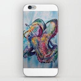 Wild Watercolor Octopus iPhone Skin