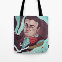 milky way Tote Bags featuring Milky Way  by Fravenmort