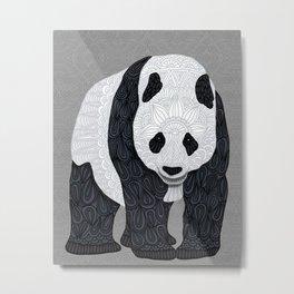 Papa Panda Metal Print