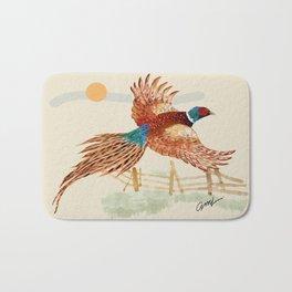male pheasant Bath Mat