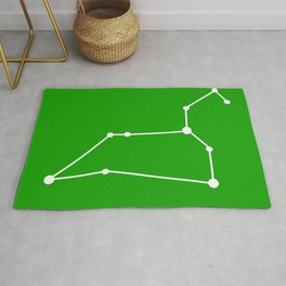 Leo (White & Green) Rug
