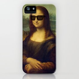 Hipster Mona Lisa in her Hipster Shades iPhone Case