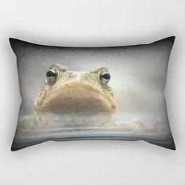 Frog from Front Painting Style Rectangular Pillow