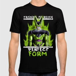 Training to reach pefect form - Cell T-shirt