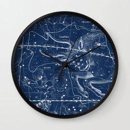 Taurus sky star map Wall Clock