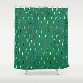 Retro Golf Pattern Shower Curtain