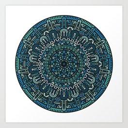 Winter Mandala Art Print
