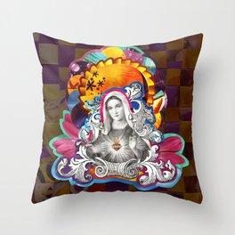 Imaculado Coração de Maria (Immaculate Heart)  Throw Pillow