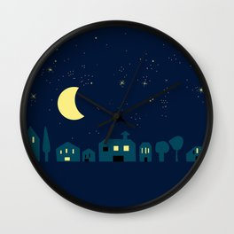 silent, starry night Wall Clock