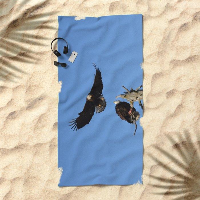 The Battle Begins Beach Towel