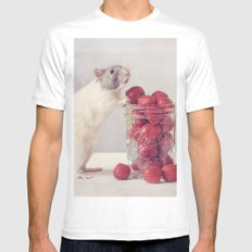 Snoozy MEDIUM White Mens Fitted Tee