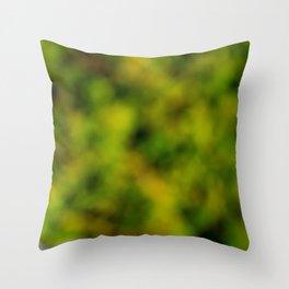 Natural Bokeh Camo Throw Pillow