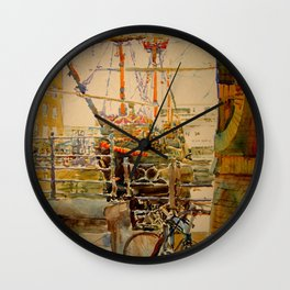 Breath of the Thames Wall Clock