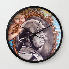 COME BACK OR LEAVE By Davy Wong Wall Clock
