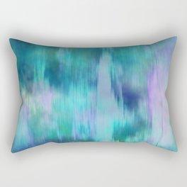 Teal & Purple Fusion Illustration, Digital Watercolor Camo Blend - Fluid Art Rectangular Pillow