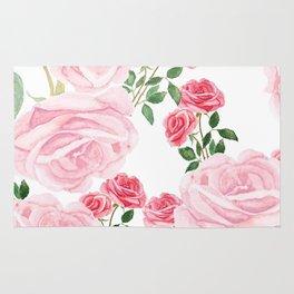 pink rose patterns Rug