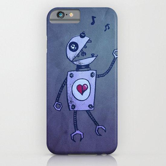 Happy Cartoon Singing Robot iPhone & iPod Case