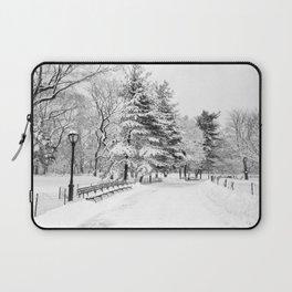 New York City Winter Trees in Snow Laptop Sleeve