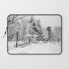 New York City Winter Trees in Snow Laptop Sleeve