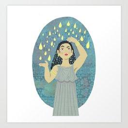 DANAE and the golden rain Art Print