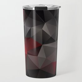 Polygon red black triangles . Travel Mug