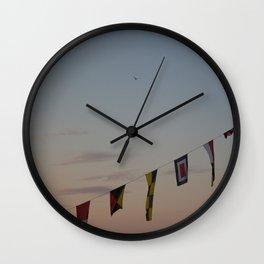 Flags and sunset Leith Edinburgh Wall Clock