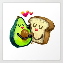 Avocado Toast Art Print