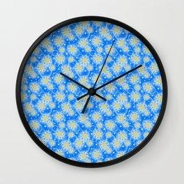 Inspirational Glitter & Bubble pattern Wall Clock