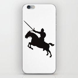 Horse Knight (Cavalry) Silhouette iPhone Skin