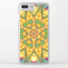 Magical Bohemian Sunflower Clear iPhone Case