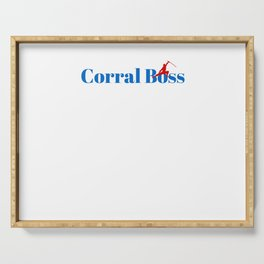 Top Corral Boss Serving Tray
