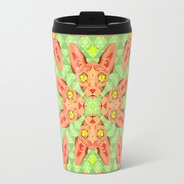 Sphynx Cat Pattern Travel Mug