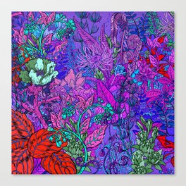 Electric Garden Canvas Print