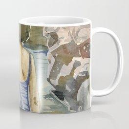 girl in the sea. Montenegro Coffee Mug