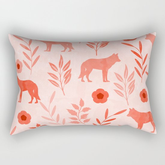 Forest Animal and Nature II Rectangular Pillow