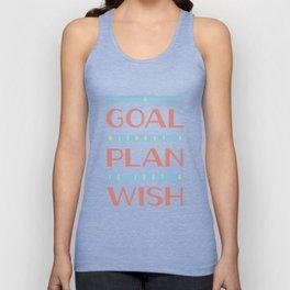 Plan Your Goals - Antoine de Saint Exupery Quote Unisex Tank Top