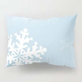 Falling Snowflake Pillow Sham