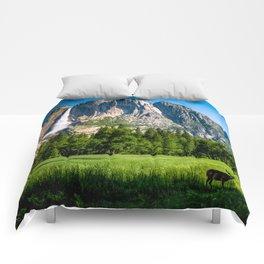 Grazing in Wonderland Comforters