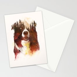 One night in the forest Stationery Cards