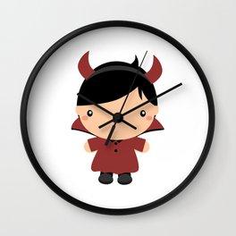 Little Devil Funny Halloween 2020 Wall Clock