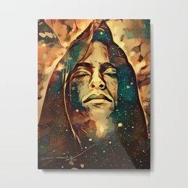 Futuristic Knight Metal Print