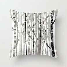 Pattern Trees Throw Pillow