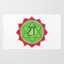 Anahata Heart Green Chakra Rug