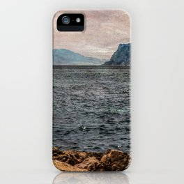 A view to the Rock of Gibraltar iPhone Case