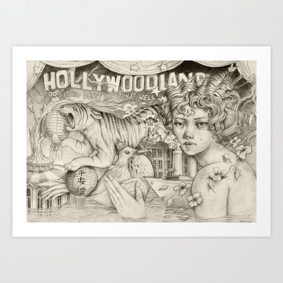 Hollywoodland Art Print